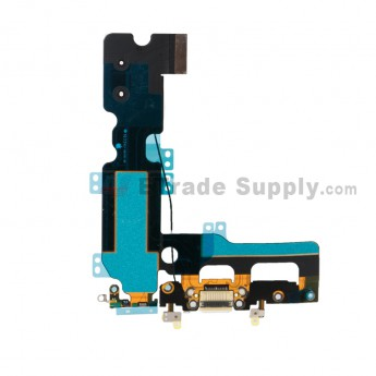 For Apple iPhone 7 Plus Charging Port Flex Cable Ribbon Replacement - White - Grade S+ (0)