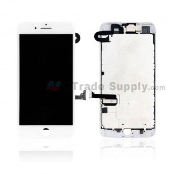 For Apple iPhone 7 Plus LCD Screen and Digitizer Assembly With Frame and Small Parts Replacement (Without Home Button) - White - Grade S+ (0)