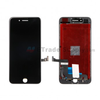 For Apple iPhone 7 Plus LCD Screen and Digitizer Assembly with Frame Replacement - Black - Grade R (1)