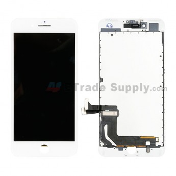 For Apple iPhone 7 Plus LCD Screen and Digitizer Assembly with Frame Replacement - White - Grade R (0)