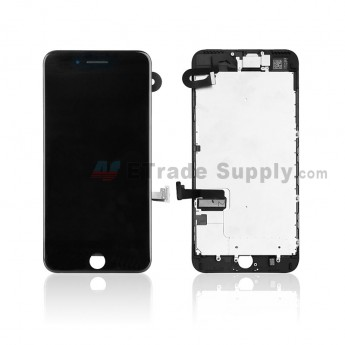 For Apple iPhone 7 Plus LCD Screen and Digitizer Assembly with Frame and Small Parts Replacement (Without Home Button) - Black - Grade R (0)