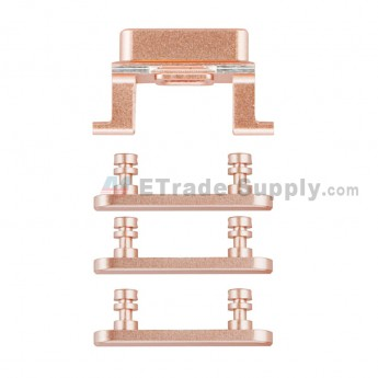 For Apple iPhone 7 Side Keys Replacement (4 pcs/set) - Rose Gold - Grade S+ (0)