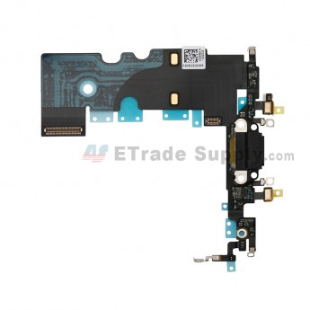 For Apple iPhone 8 Charging Port Flex Cable Ribbon Replacement - Dark Gray - Grade S+ (0)