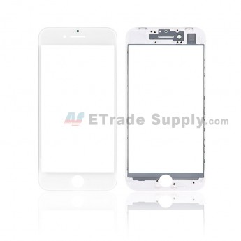 For Apple iPhone 8 Glass Lens with Frame Replacement - White - Grade S+ (7)