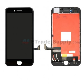 For Apple iPhone 8 LCD Screen and Digitizer Assembly with Frame Replacement - Black - Grade S (0)