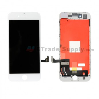 For Apple iPhone 8 LCD Screen and Digitizer Assembly with Frame Replacement - White - Grade A (0)