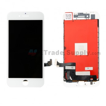 For Apple iPhone 8 LCD Screen and Digitizer Assembly with Frame Replacement - White - Grade R (0)
