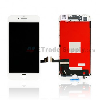 For Apple iPhone 8 LCD Screen and Digitizer Assembly with Frame Replacement - White - Grade S+ (0)