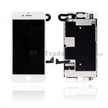 For Apple iPhone 8 LCD Screen and Digitizer Assembly with Frame and Small Parts Replacement (No Home Button and Auto Brightness Function) - White - Grade A (0)