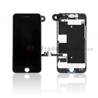 For Apple iPhone 8 LCD Screen and Digitizer Assembly with Frame and Small Parts Replacement (Without Home Button) - Black - Grade S (0)