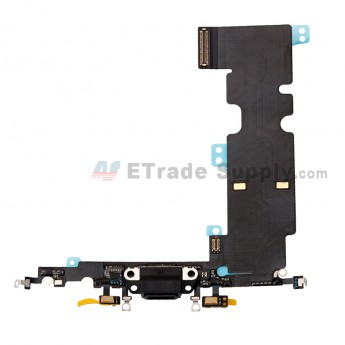 For Apple iPhone 8 Plus Charging Port Flex Cable Ribbon Replacement - Dark Gray - Grade S+ (0)