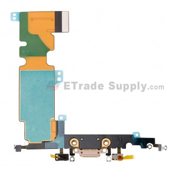 For Apple iPhone 8 Plus Charging Port Flex Cable Ribbon Replacement - Gold - Grade S+ (1)