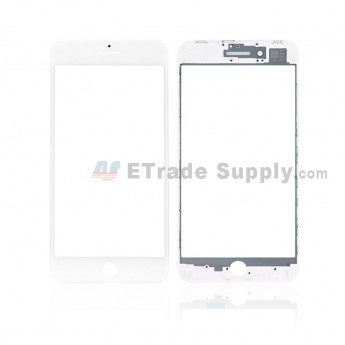 For Apple iPhone 8 Plus Glass Lens with Frame Replacement - White - Grade S+ (8)