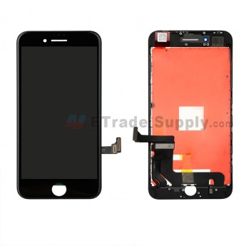 For Apple iPhone 8 Plus LCD Screen and Digitizer Assembly with Frame Replacement - Black - Grade A (0)