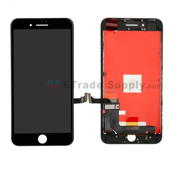 For Apple iPhone 8 Plus LCD Screen and Digitizer Assembly with Frame Replacement - Black - Grade R (0)