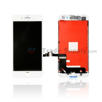 For Apple iPhone 8 Plus LCD Screen and Digitizer Assembly with Frame Replacement - White - Grade S+ (0)