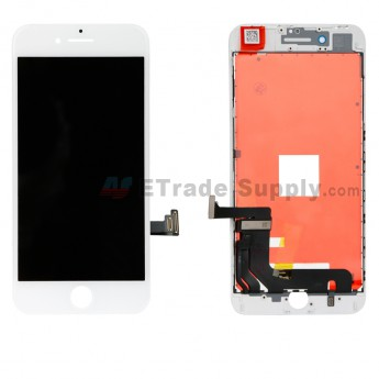 For Apple iPhone 8 Plus LCD Screen and Digitizer Assembly with Frame Replacement - White - Grade S (0)