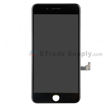 For Apple iPhone 8 Plus LCD Screen and Digitizer Assembly with Frame and Small Parts Replacement (Without Home Button) - Black - Grade R (0)