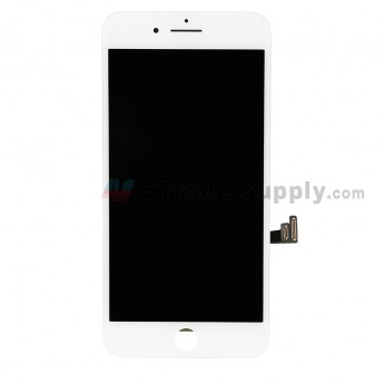 For Apple iPhone 8 Plus LCD Screen and Digitizer Assembly with Frame and Small Parts Replacement (Without Home Button) - White - Grade S (0)