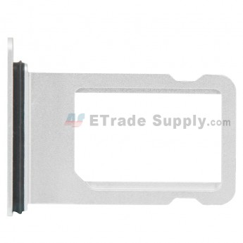 For Apple iPhone 8 SIM Card Tray Replacement - Silver - Grade S+ (0)