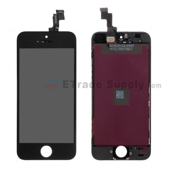 For Apple iPhone SE LCD Screen and Digitizer Assembly with Frame Replacement - Black - Grade S+ (0)