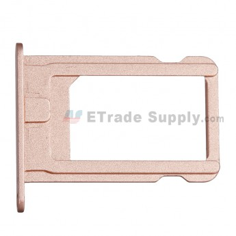 For Apple iPhone SE SIM Card Tray Replacement - Rose Gold - Grade S+ (0)