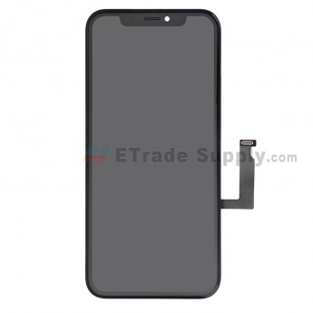 For Apple iPhone XR LCD Screen and Digitizer Assembly with frame Replacement - Black - Grade S+ (0)