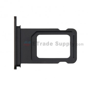 For Apple iPhone XR SIM Card Tray Replacement (Single SIM Card) - Black - Grade S+ (0)