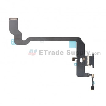 For Apple iPhone XS Charging Port Flex Cable Ribbon Replacement - Black - Grade S+ (0)