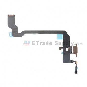 For Apple iPhone XS Charging Port Flex Cable Ribbon Replacement - Gold - Grade S+ (0)