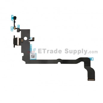 For Apple iPhone XS Max Charging Port Flex Cable Ribbon Replacement - Black - Grade S+ (0)