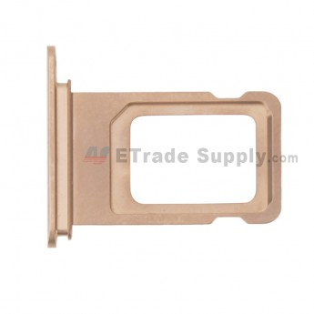 For Apple iPhone XS Max SIM Card Tray Replacement (Double SIM Card) - Gold - Grade S+ (0)