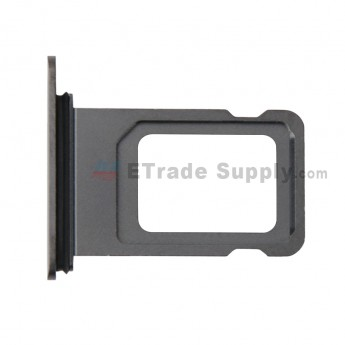 For Apple iPhone XS Max SIM Card Tray Replacement (Single SIM Card) - Gray - Grade S+ (0)