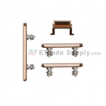 For Apple iPhone XS Side Keys Replacement (4pcs/set) - Gold - Grade S+ (4)