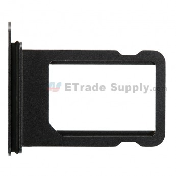 For Apple iPhone X Card Tray with Foam Gasket Replacement - Black - Grade S+ (0)