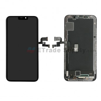 For Apple iPhone X LCD Screen and Digitizer Assembly with Frame Replacement - Black - Grade S+ (0)
