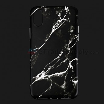 For Apple iPhone X Protective Case Replacement (Marble Black) - Grade R (0)