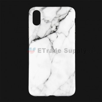 For Apple iPhone X Protective Case Replacement (Marble White) - Grade R (0)