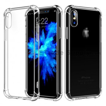 For Apple iPhone X Silicone Corners Balloon Anti-fall Protective Case (3)
