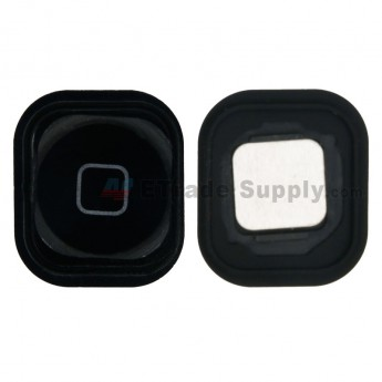 For Apple iPod Touch 5th Generation Home Button with Rubber Gasket Replacement - Black - Grade S+ (1)