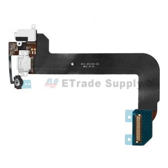 For Apple iPod Touch 6th Generation Charging Port Flex Cable Ribbon Replacement - White - Grade S+ (0)