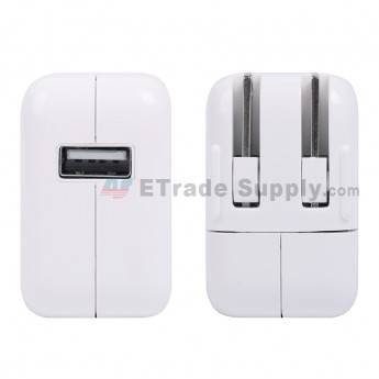 For Apple iPod Touch Series, iPhone Series, iPad Series Charger (US Plug, 12W) - White - Grade S (1)