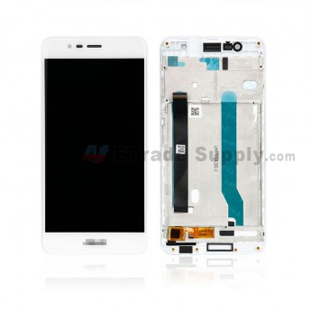 For Asus ZenFone 3 Max ZC520TL LCD Screen and Digitizer Assembly with Front Housing Replacement - White - With Logo - Grade S+ (0)