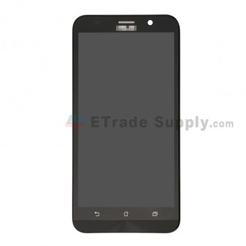 For Asus Zenfone 2 ZE551ML LCD Screen and Digitizer Assembly with Front Housing Replacement - Black - Asus Logo - Grade S+ (0)