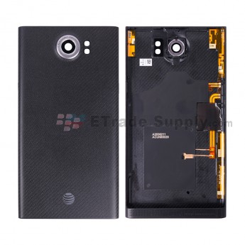 For BB Priv Battery Door with Wireless Charging Coil Replacement (AT&T Version) - Black - BB Logo - Grade S+ (5)