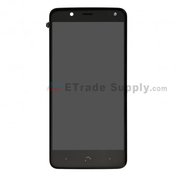 For BQ Aquaris V LCD Screen and Digitizer Assembly with Front Housing Replacement - Black - Grade S+ (0)