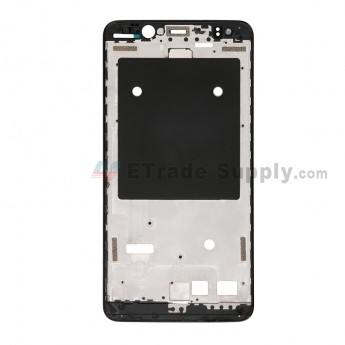 For BQ Aquaris V Plus Front Housing - Black - Grade S+ (0)