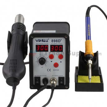 For BST-898D+ 2-in-1 Desoldering Station Double LED Didplay with Hot Air Gun (3)