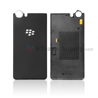 For BlackBerry KEYone Battery Door Replacement - Black - Without Logo - Grade S+ (0)