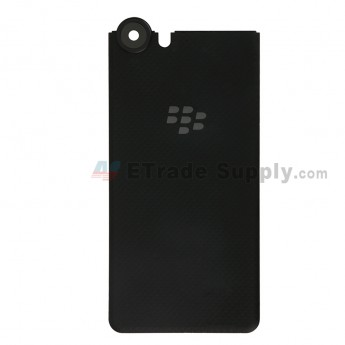 For BlackBerry KEYone Battery Door Replacement - Black - Without Logo - Grade S+ (7)